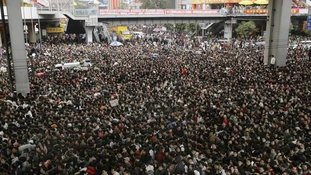 Массовые тренировочные эвакуации населения в КНДР (иллюстрация)