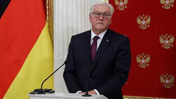 Президент Германии Франк-Вальтер Штайнмайер во время визита в Москву