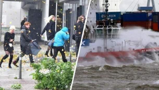 """Ураган """"Герварт"""" бушует в Германии"""