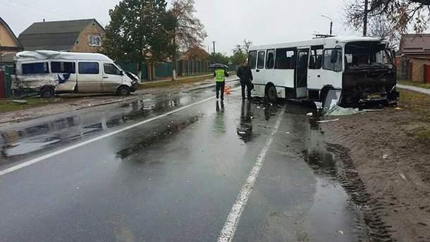 ДТП за участю двох автобусів на Київщині