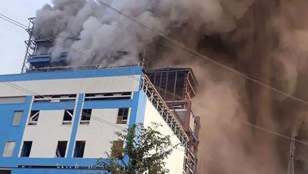 Пожар на ТЭС в Индии