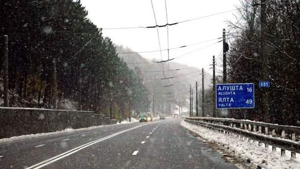 В Криму випав перший сніг