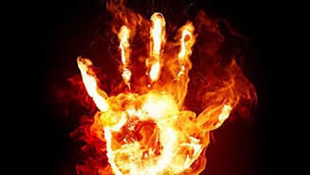 На Харьковщине горел жилой дом, в котором было четверо детей