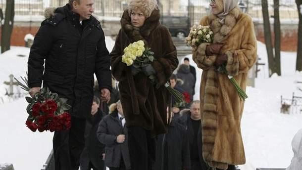 Путин, мать Ксении Собчак и Ксения Собчак