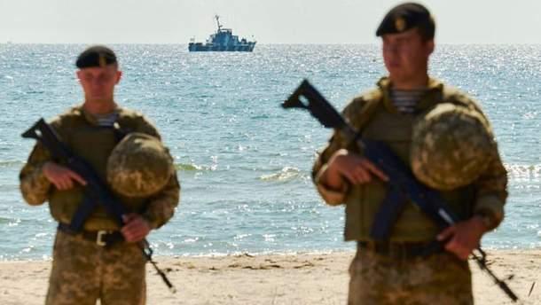 Українські військові в зоні проведення АТО