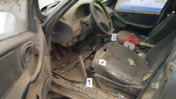 Взрыв автомобиля в Одесской области