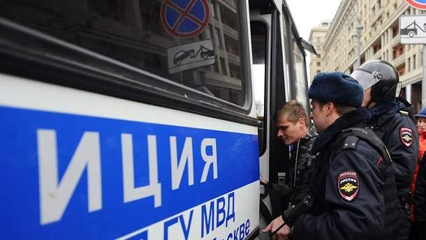 Задержания участников протеста в России