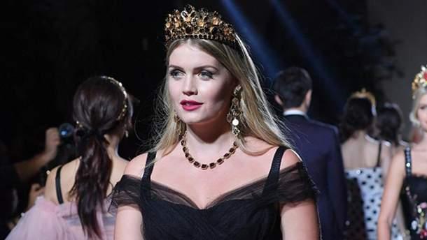 Китти Спенсер на модном показе Dolce&Gabbana