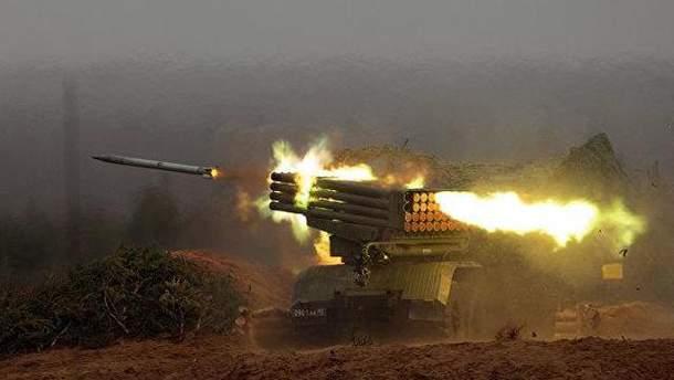 Боевики в зоне АТО применяют реактивные системы залпового огня