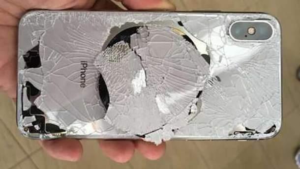 Розбитий iPhone X