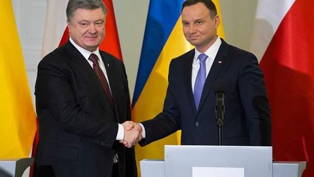 Украина и Польша проведут заседание Консультационного комитета президентов Порошенко и Дуды
