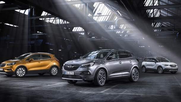 Модельний ряд кросоверів Opel 2017