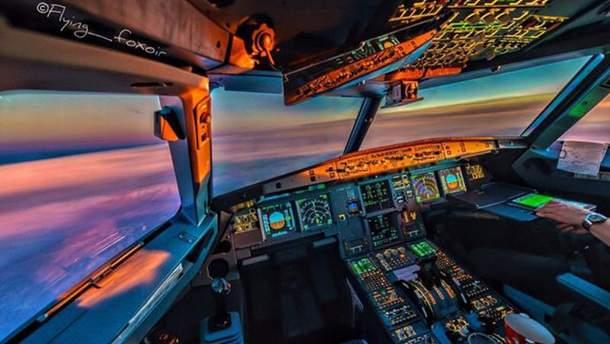 Фото из кабины пилота