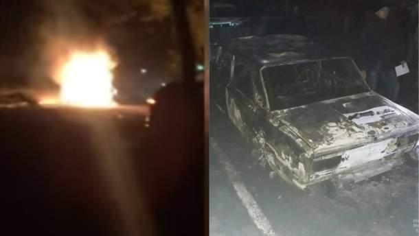 Вибух авто у Жовтих Водах відео