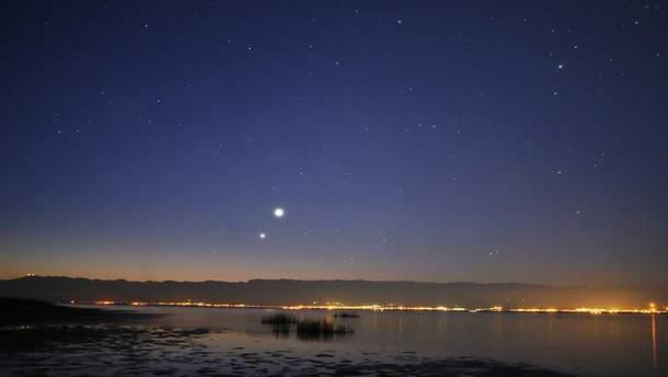 """""""Поцілунок"""" Венери та Юпітера"""
