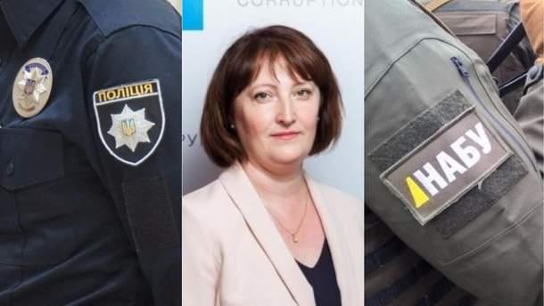 Полиция расследует визит работника НАБУ к свекрови главы НАПК Корчак