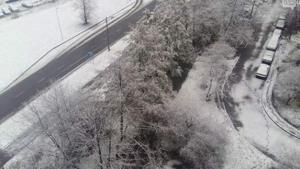 Снег во Львове