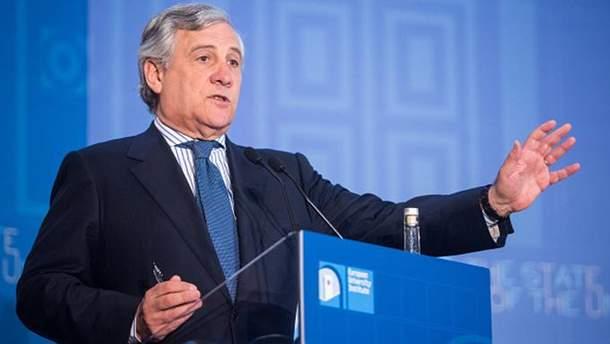 Глава Европарламента Антонио Таяни
