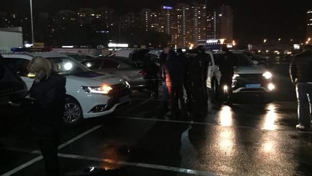 Затримання автомобіля з вибухівкою у Києві
