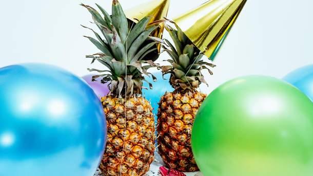 Як прикрасити ананас на Новий рік