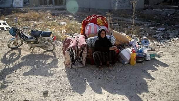 Землетрясение на границе Ирака и Ирана