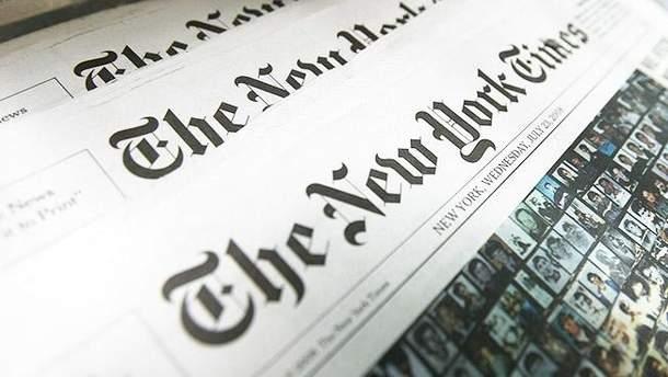 Карта Крыма в The New York Times