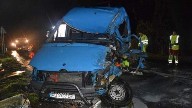 Авария в Словакии