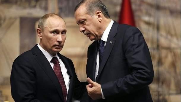 Путин и Реджеп Эрдоган