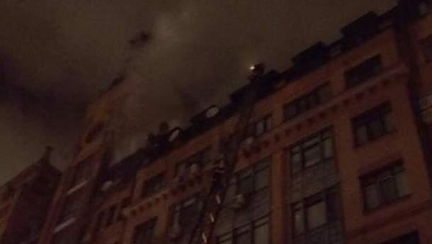 В Киеве в жилом многоэтажном доме произошел пожар