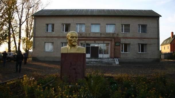 Бюст Ленина, который стоял в поселке Шабо Одесской области