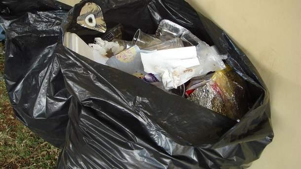 Пакет с мусором (иллюстрация)