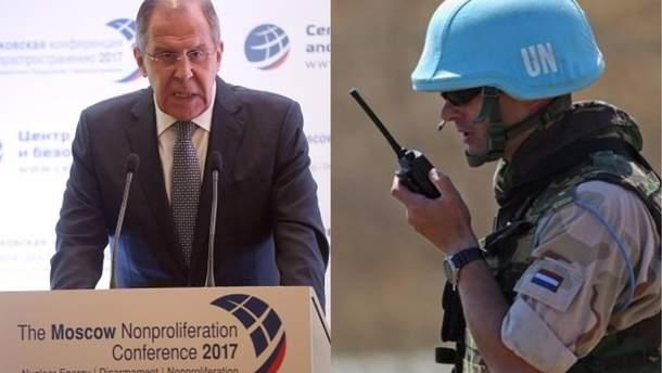 """Формат миротворців ООН на Донбасі треба погодити з """"ЛДНР"""", заявив Лавров"""