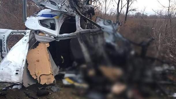 В Донецкой области на мини боевиков подорвалось авто полиции