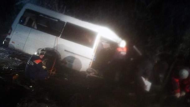 Пассажирский автобус в России врезался в лесовоз