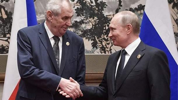 Мілош Земан та Володимир Путін