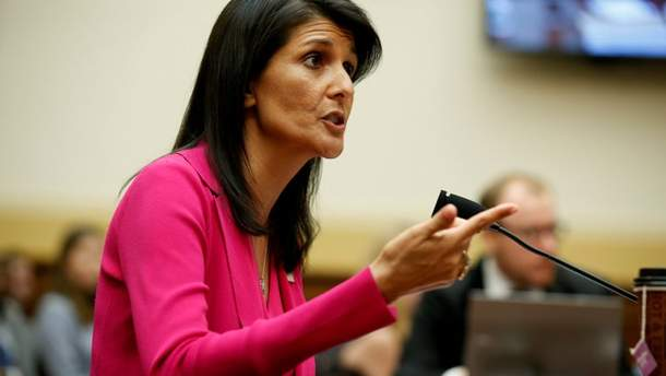 Гейлі обурена голосуванням щодо сирійської резолюції