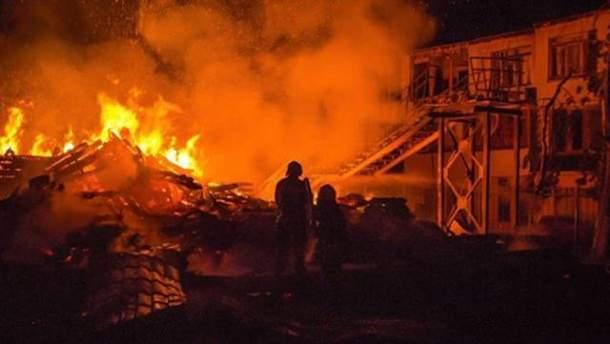 """Пожежа у таборі """"Вікторія"""" в Одесі"""