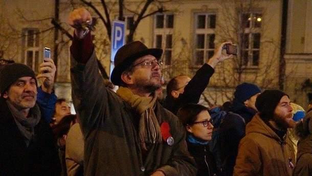 Активисты в Праге