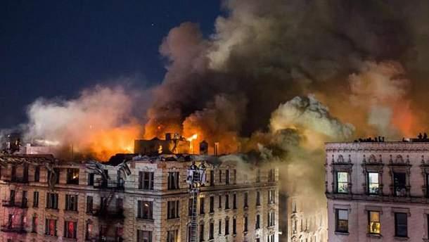 Масштабна пожежа в Нью-Йорку