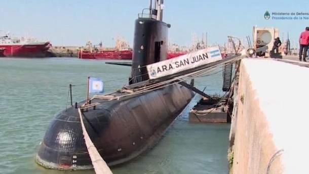 Аргентинская субмарина исчезла в Атлантике 15 ноября
