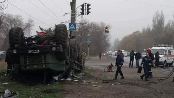 Авария военных в Запорожье