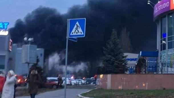 """Пожар в торговом центре """"Агромат"""""""