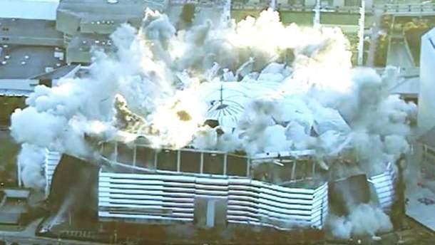 В США снесли футбольный стадион 20 ноября: видео