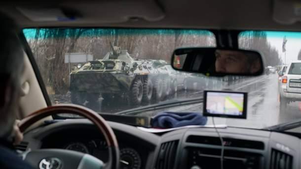 Військова техніка на шляху до Луганська