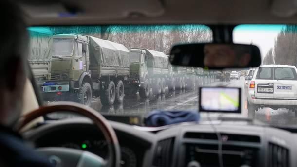 Войска в оккупированном Луганске