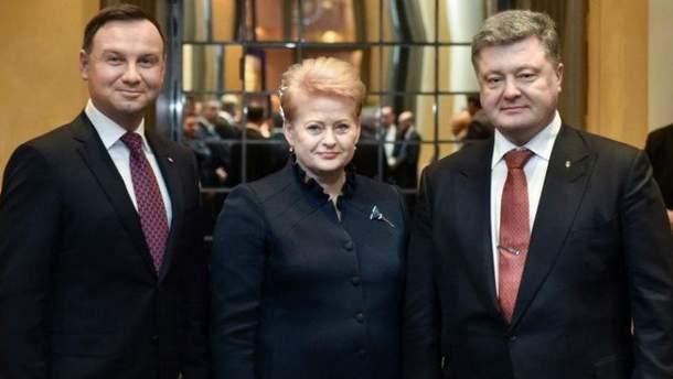 Дуда, Грібаускайте і Порошенко