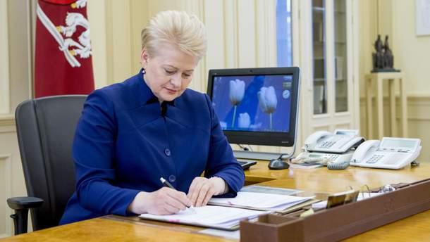 """Президент Литви підписала """"закон Магнітського"""""""
