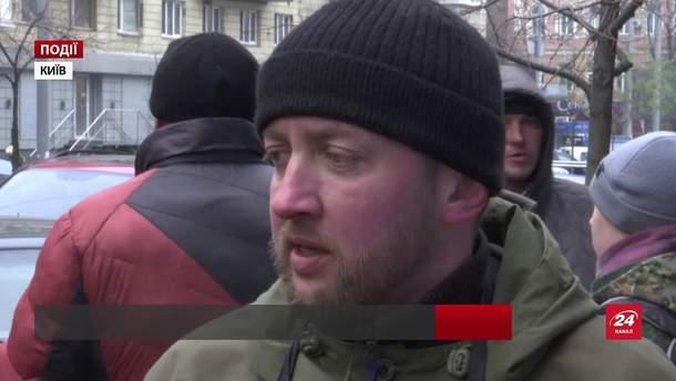 Бойцы АТО пикетировали против лотереи