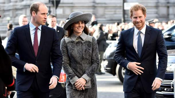 Кейт Міддлтон, принци Вільям та Гаррі