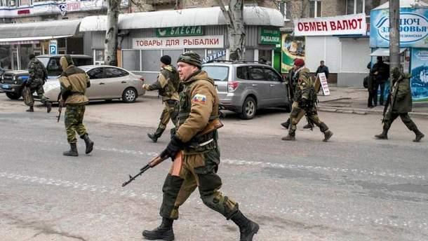 Пророссийские террористы на Донбассе